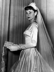 Audrey Hepburn Wedding gown