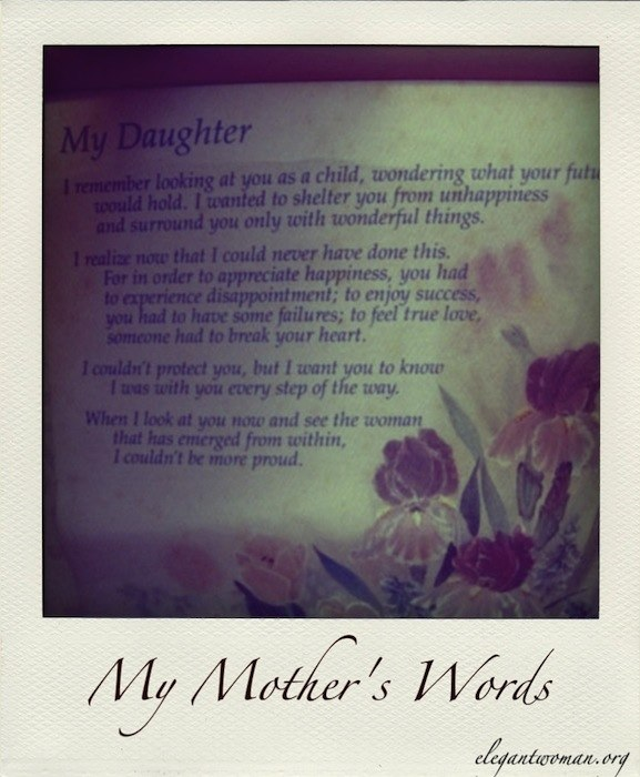 a mother's words