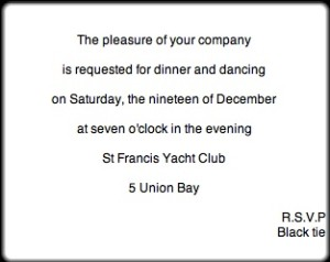 society dances invitation