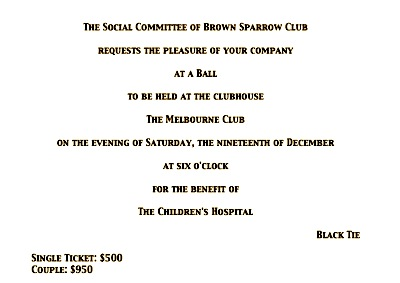 public society ball invitation