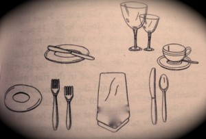 etiquette proper table setting- informal