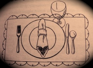 etiquette proper table setting- family style