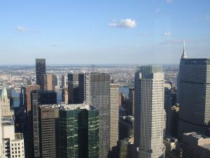 manhattan skyline of offices