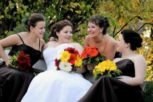 black bridesmaid gowns