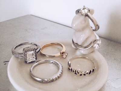 my collection of my own promise rings