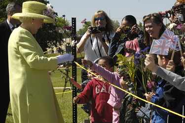 Queen Elizabeth visiting