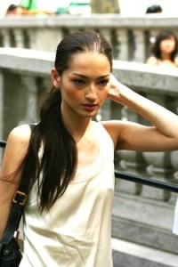 london fashion model - sophisticated hairstyle