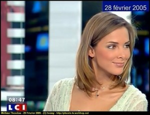 Melissa Theuriau sophisticated hairstyle