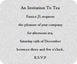 tea etiquette invitation