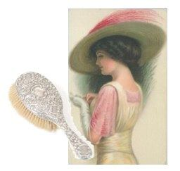 Victorian lady with beautiful comb