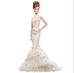 elegant wedding dress by Barbie