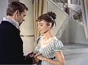 Audrey Hepburn's shoulders are always back and down.