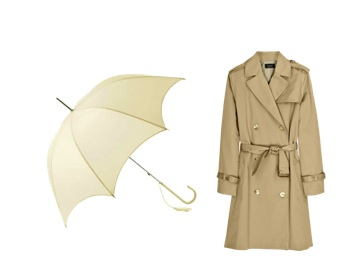 wardrobe-essentials-matching-umbrella-trench-coat
